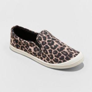 Mad Love Kasandra Leopard Twin Gore Canvas Sneaker
